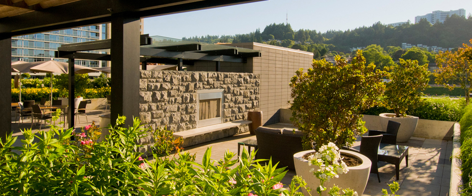 Mirabella Portland, landscape, Mayer/Reed