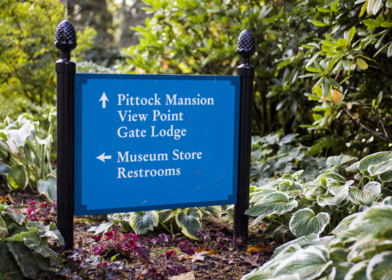 Pittock Mansion Signage - Mayer/Reed
