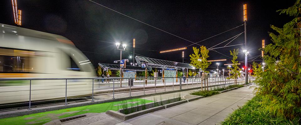 MAX Orange Line OMSI Station Mayer/Reeed