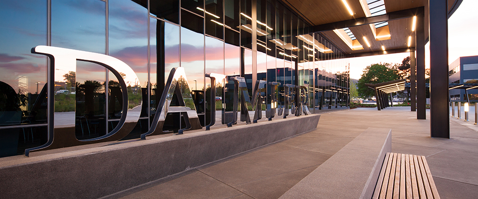 Daimler Trucks North America Headquarters - Mayer/Reed signage and landscape