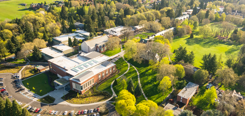 Reed College Performing Arts Building Aerial