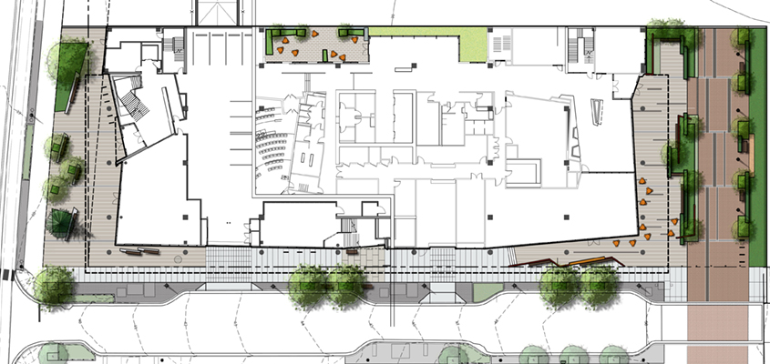 Knight Cancer Research Building Site Plan